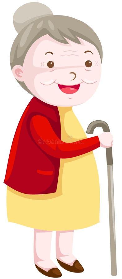 Abuela stock de ilustración