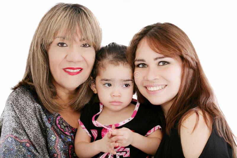 Abuela con la hija y el nieto adultos imágenes de archivo libres de regalías