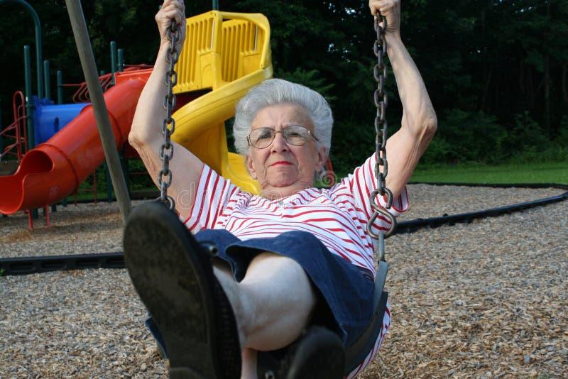 Abuela de balanceo 12 imagen de archivo libre de regalías