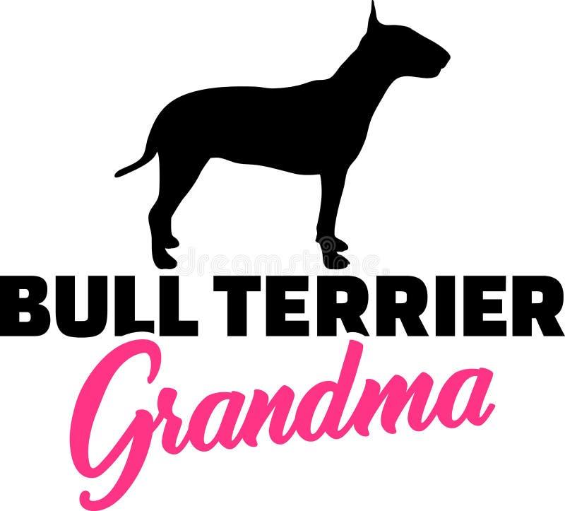 Abuela de bull terrier ilustración del vector