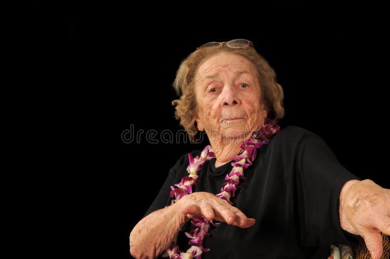 Abuela de Hula fotografía de archivo libre de regalías