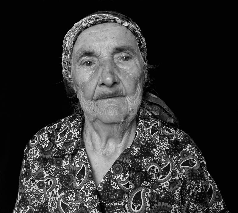 Abuela Evgeniia del retrato imágenes de archivo libres de regalías