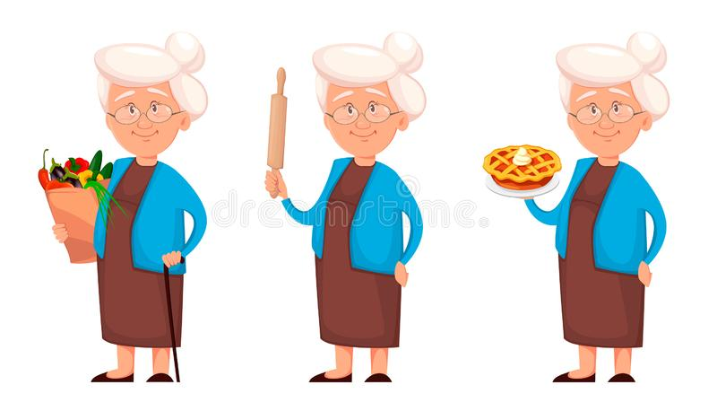 Abuela, sistema de tres actitudes libre illustration