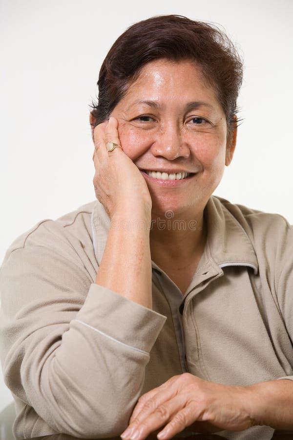 Abuela sonriente fotos de archivo