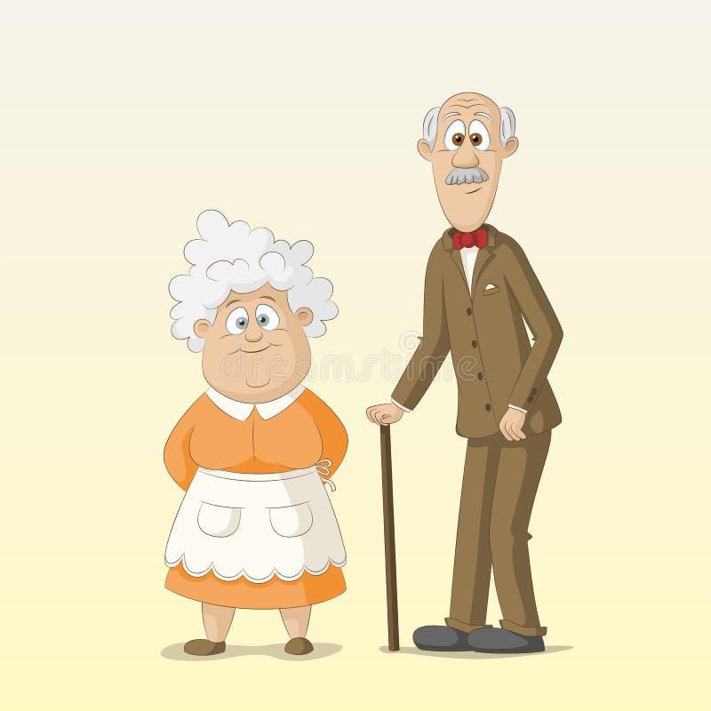 Abuela y abuelo libre illustration