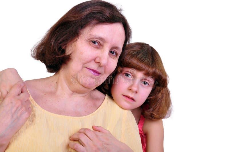 Abuela y nieta imagen de archivo