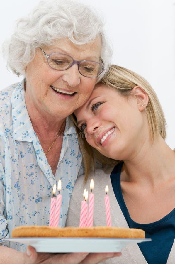 Abuela y nieto blandos imagen de archivo