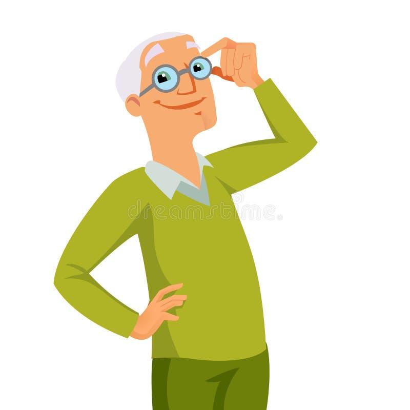 Abuelo stock de ilustración
