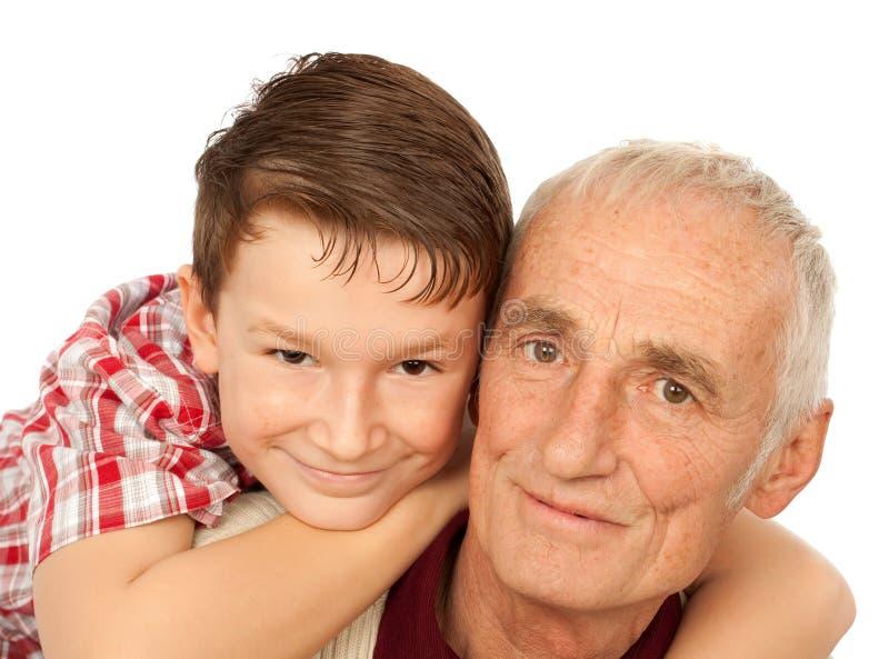 Abuelo con el nieto fotografía de archivo libre de regalías