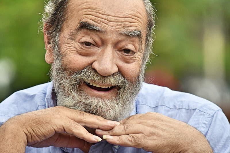 Abuelo masculino feliz imagen de archivo