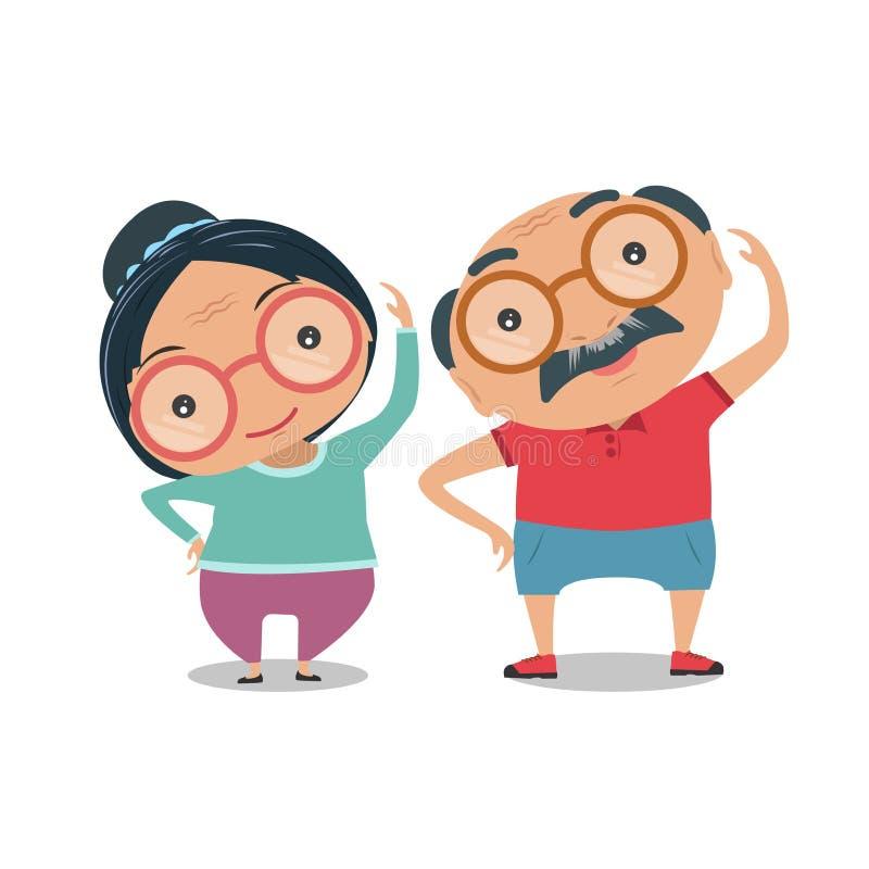 Abuelo, viejo hombre mayor y mujer la condición de ser phy