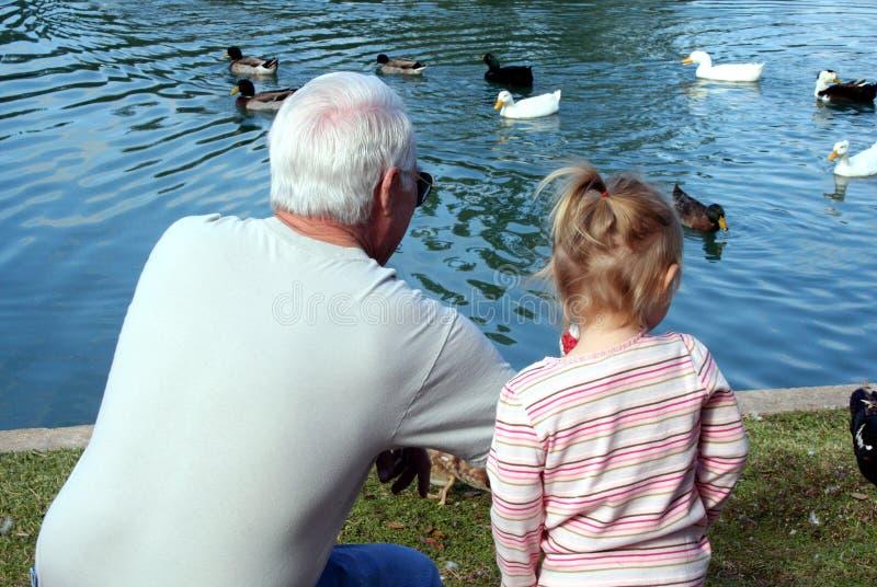 Abuelo y niño imágenes de archivo libres de regalías