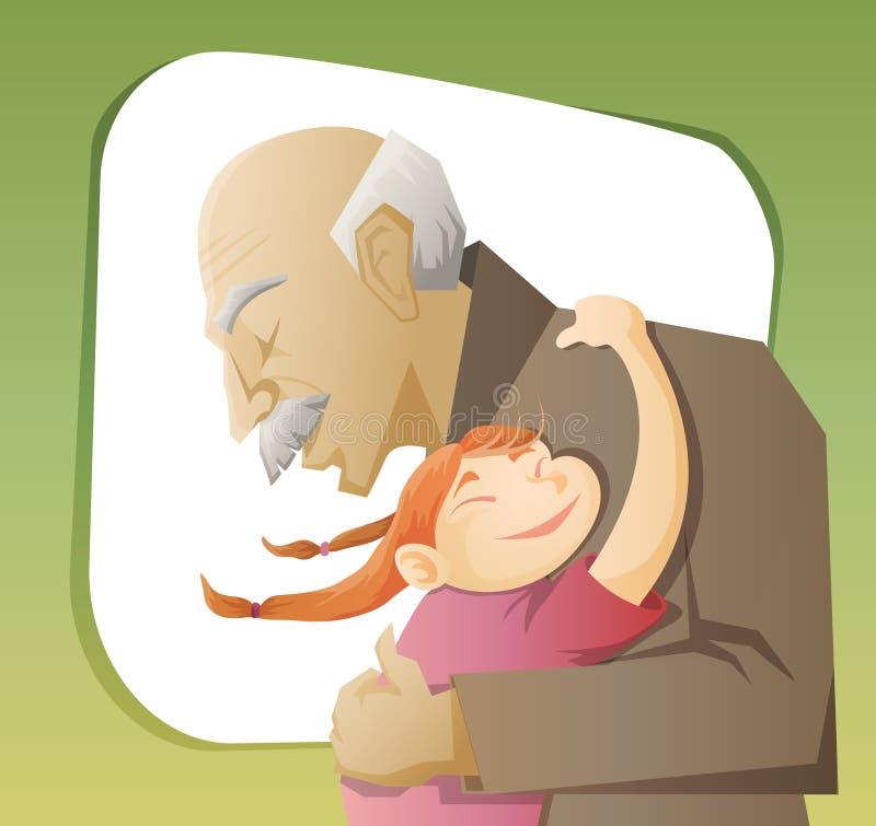 Download Abuelo y nieto stock de ilustración. Ilustración de cabrito - 42442517