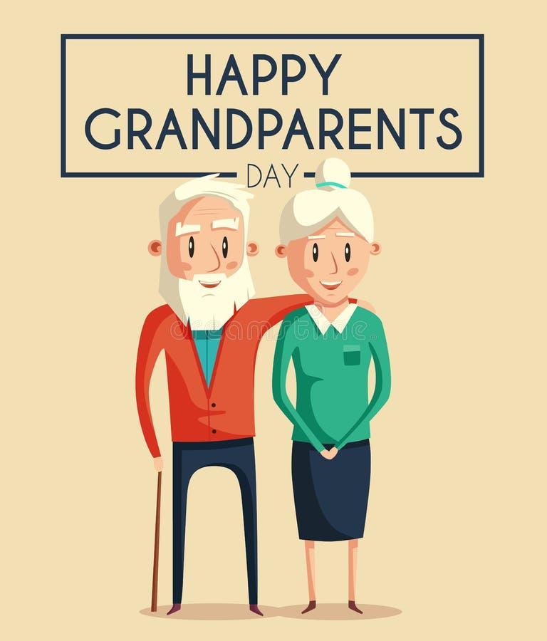 Abuelos felices Ilustración de la historieta del vector stock de ilustración