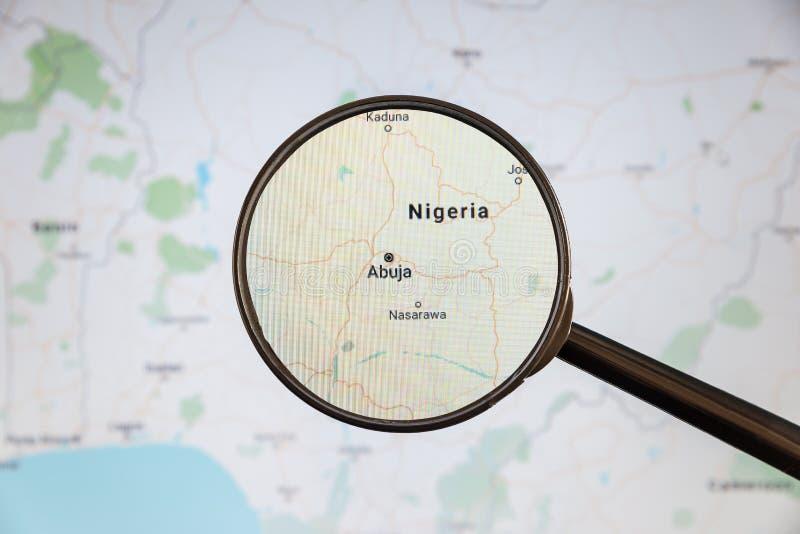 Abuja, Nigéria mapa pol?tico imagens de stock royalty free