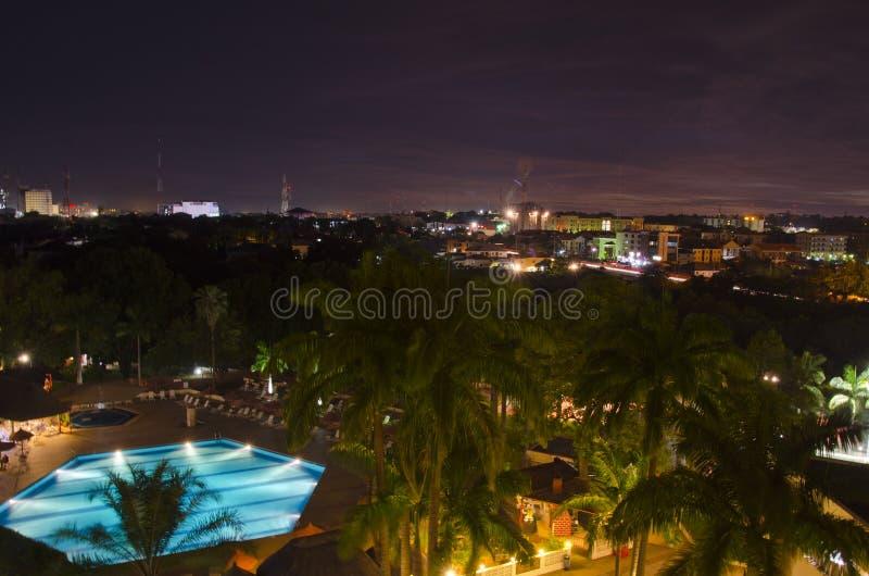 Abuja Skyline At Night Royalty Free Stock Images