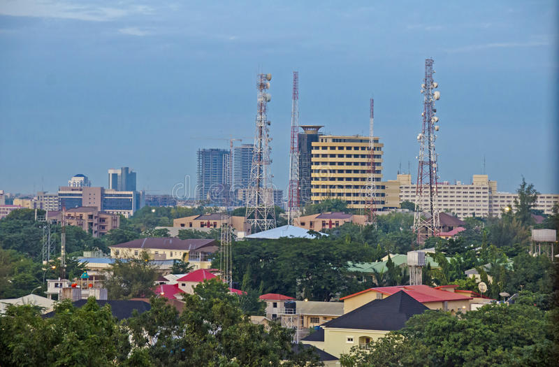 Abuja Skyline. Part of the skyline of the city of Abuja, Nigeria's political capital stock photos