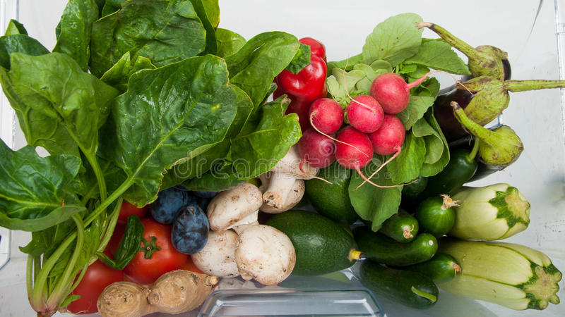 Abundância das frutas e legumes fotos de stock royalty free