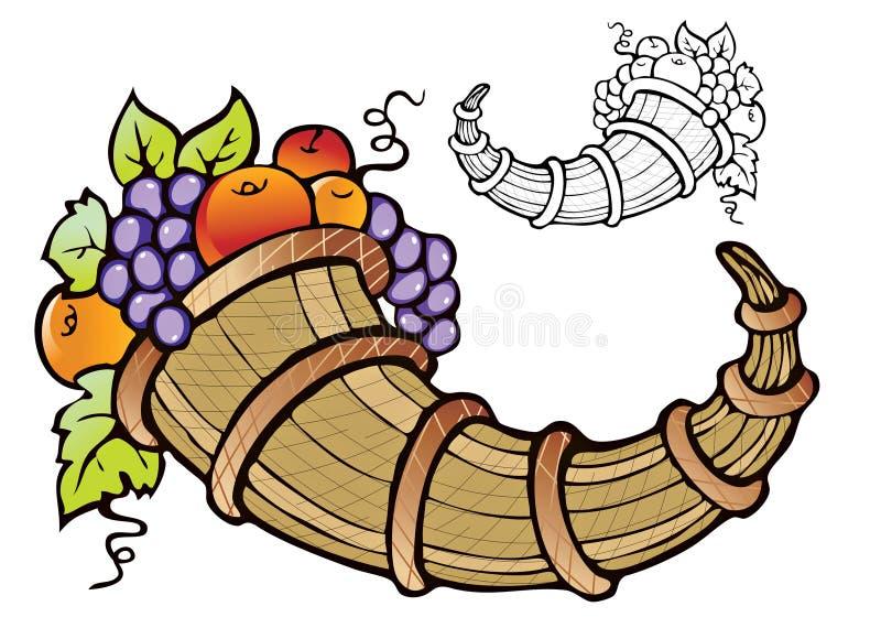 Abundância de colheita da fruta ilustração do vetor
