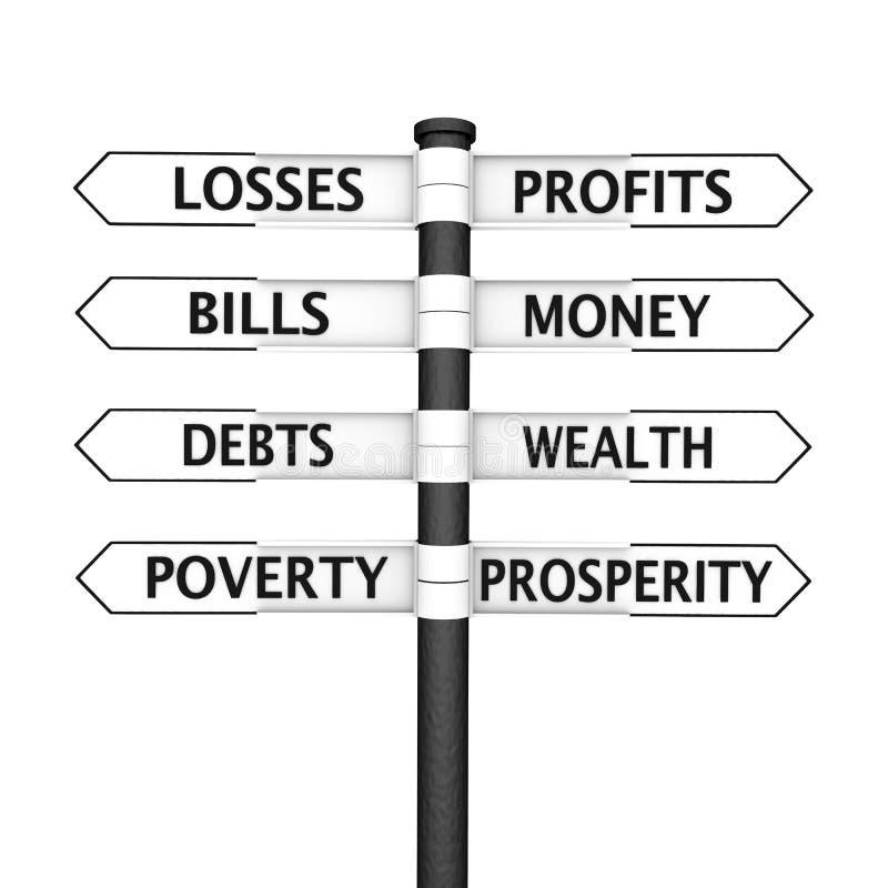 Abundancia contra pobreza ilustración del vector