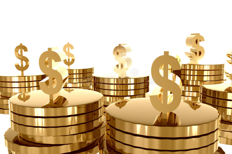 Abundancia del dinero y del oro ilustración del vector
