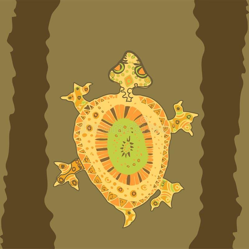 aburiginalsköldpadda royaltyfri illustrationer