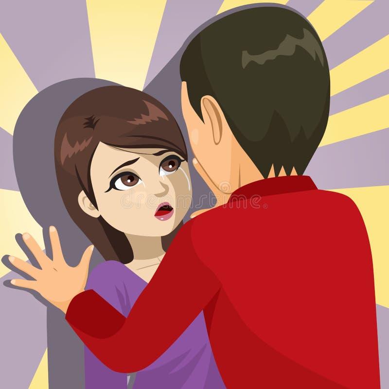 Abus de victime de femme illustration stock
