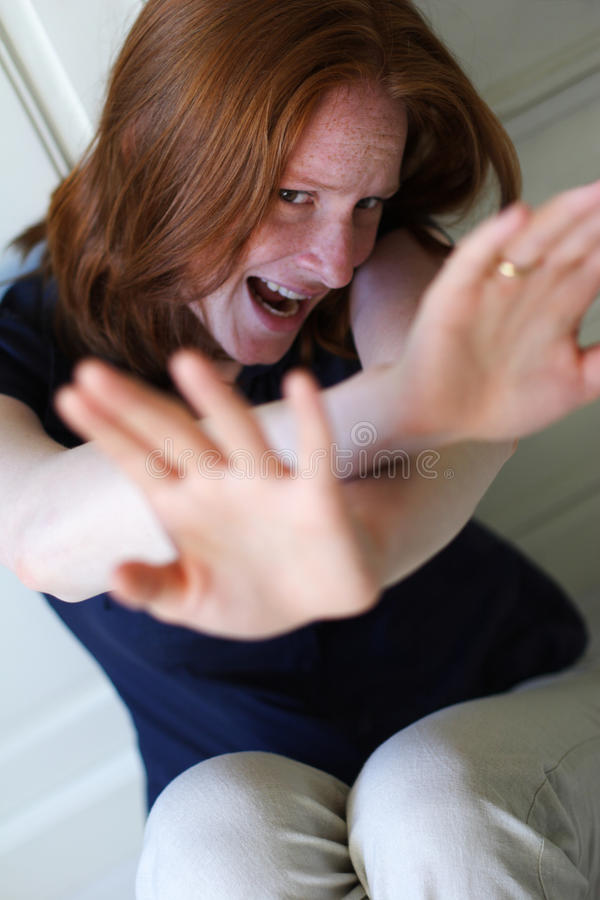 Abused Woman - Domestic Violence royalty free stock images