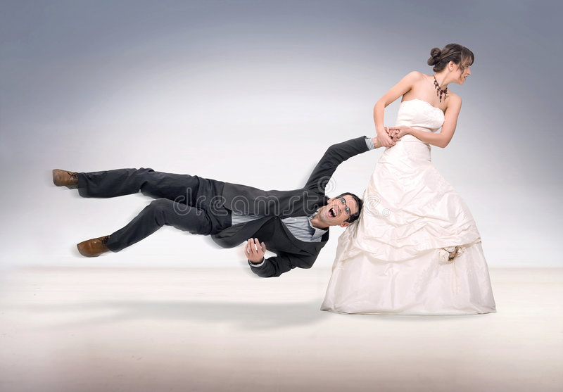 Download Abusing stock photo. Image of ouch, abuse, dress, bride - 9093558