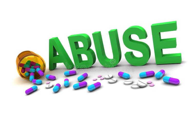 Abuso illustrazione vettoriale