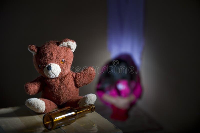 Abuso fotografia stock