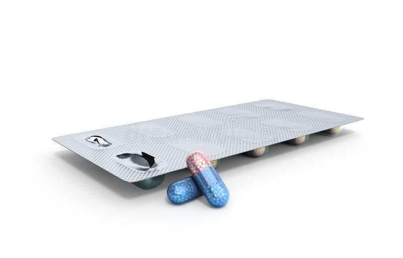 Abuso de los esteroides anabólicos para el paquete de ampolla de los deportes de los esteroides c libre illustration