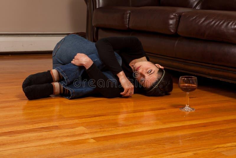 Abuso di alcool fotografia stock