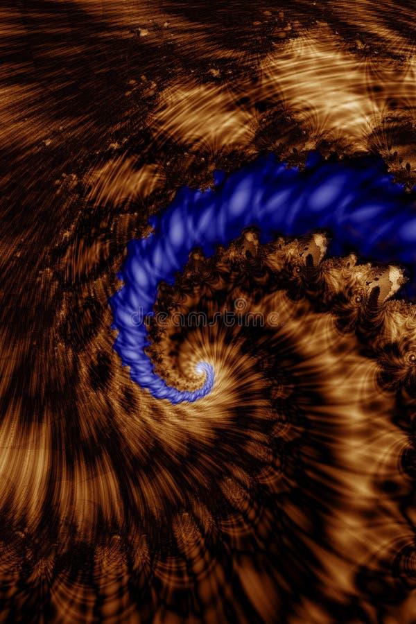 Abwärts Spirale stock abbildung