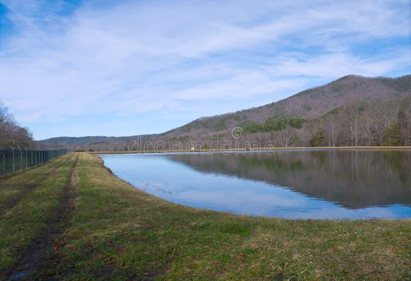 Abwasser-Teich stockbild