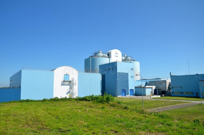 Abwasserbehandlungfabrik. stockfotografie