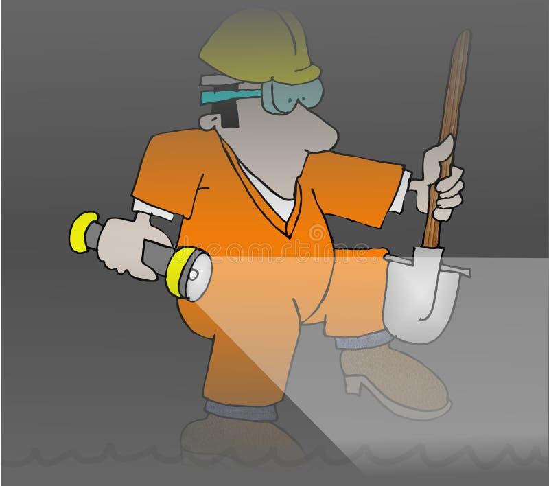 Abwasserkanal-Arbeitskraft lizenzfreie abbildung