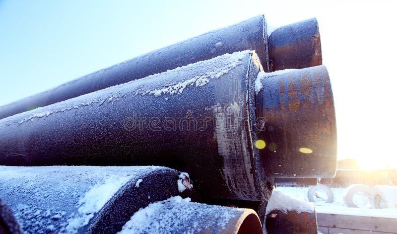 Abwasserrohr-Industriegasröhren lizenzfreie stockbilder