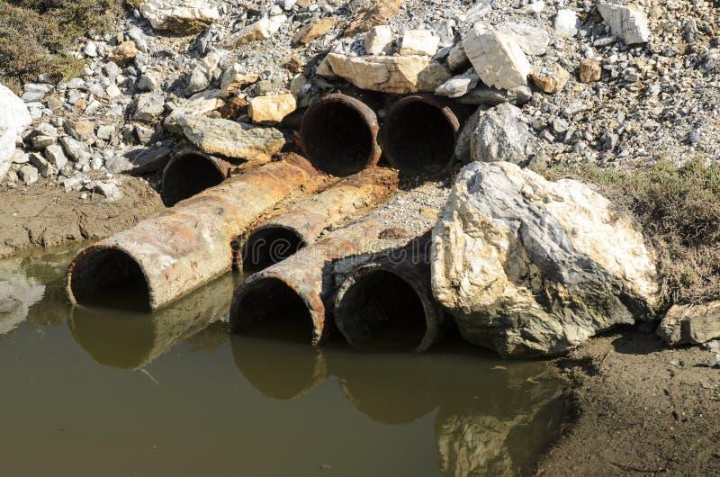 Abwasserverschmutzung lizenzfreies stockbild