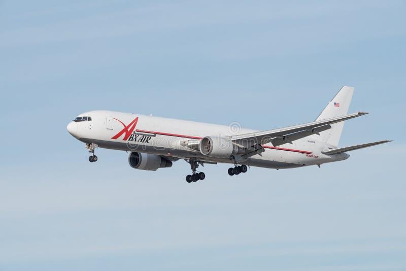 ABXAir Beoing 767 zerstreut stockbilder