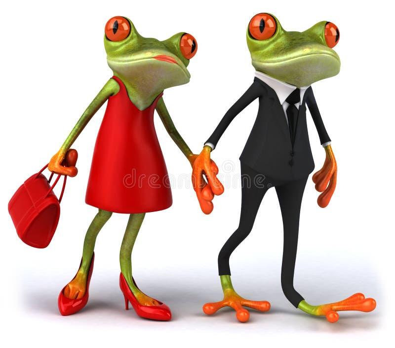Żaby ilustracja wektor