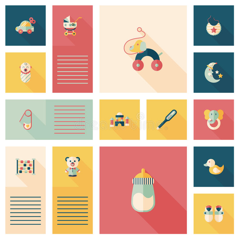 Aby flat ui bakcground set. Vector illustration file royalty free illustration