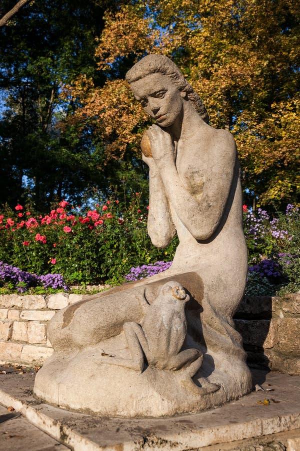 Żaby książe fontanna zdjęcie royalty free
