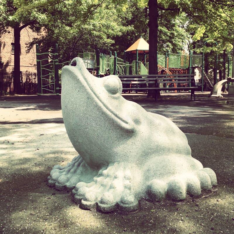Żaby statua obrazy stock