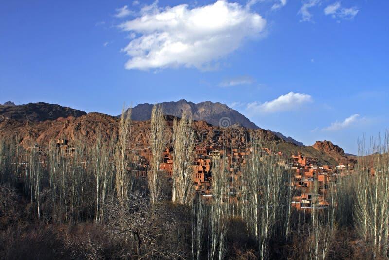 abyane χωριό στοκ εικόνα με δικαίωμα ελεύθερης χρήσης