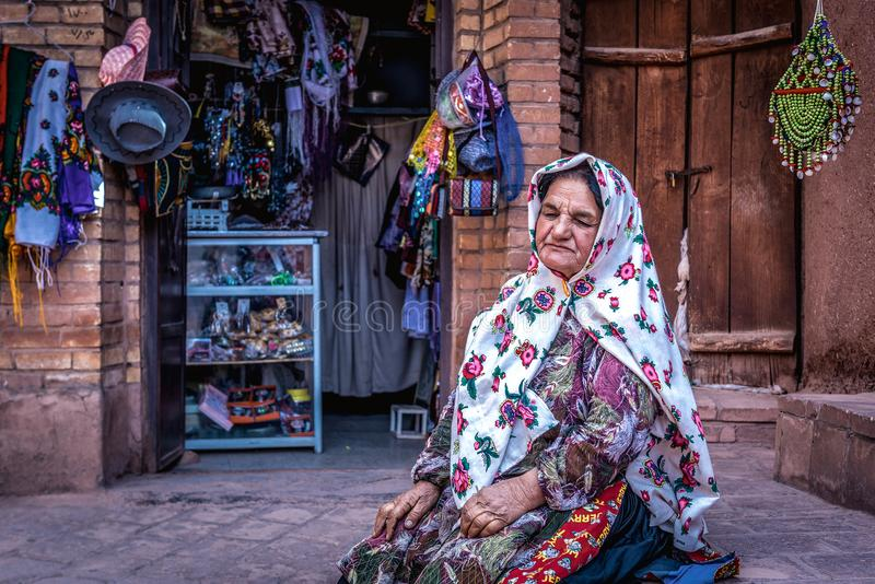 Abyaneh在伊朗 库存照片