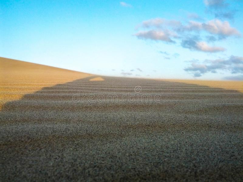 Abysmal desert in all its splendor. Beautiful view of the Venezuelan desert, one of the hottest and most beautiful in the middle of summer royalty free stock photo