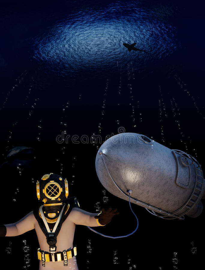 Abyss exploration royalty free stock photo