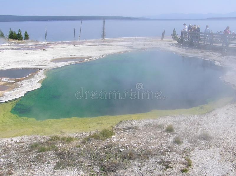Abyss Pool in the West Thumb Geyser Basin in Yellowstone NP stock photos