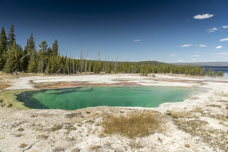 Abyss Pool West Thumb Geyser Basin Yellowstone National Park royalty free stock photos